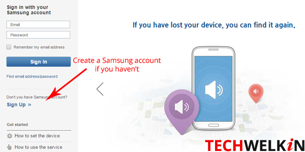 Find My Mobile is Samsung's service to track Samsung mobile phones.