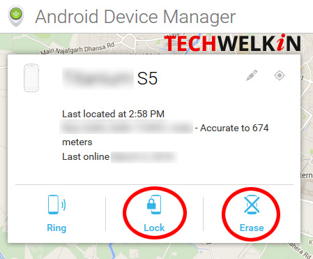 Remotely track your phone using Android Device Manager. You can also remotely lock your phone and erase its data.