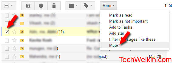 You can mute a Gmail thread.