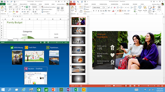 Split screen with snap asisst in Windows 10