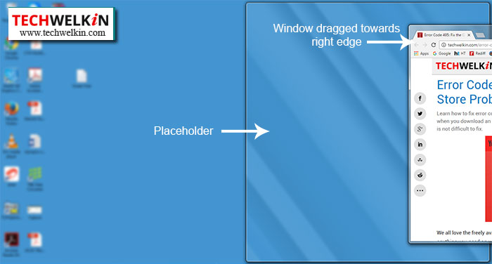 split screen in windows 8 using snap feature.