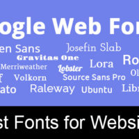 best fonts for websites