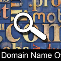 finding domain name owner is easy