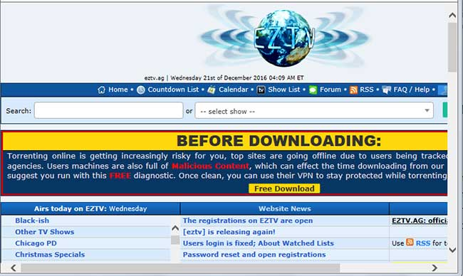 best torrent websites eztv