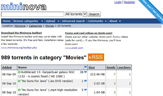 best torrent websites mininova