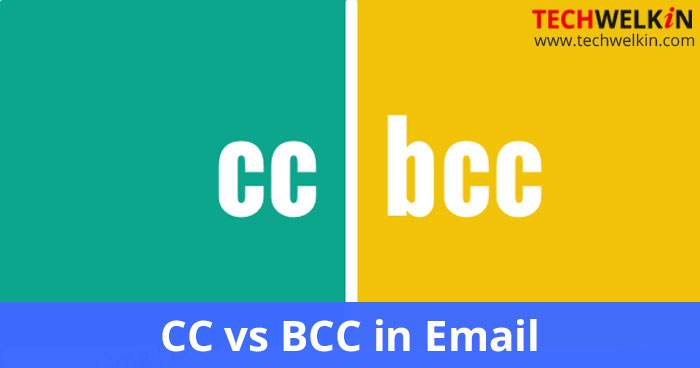 difference between cc and bcc