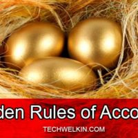 three golden rules of accounting