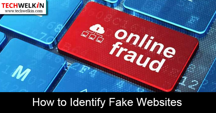 how to identify fake websites