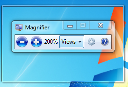 windows screen magnifier tool
