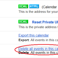 delete all events in Google calendar