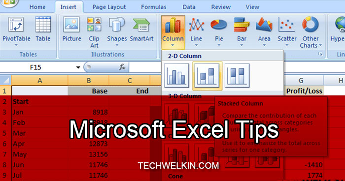 MS Excel Tips Tricks TechWelkin