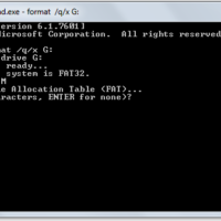 format pen drive using command prompt asking for volume