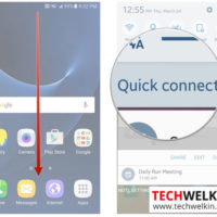 Using Samsung qucik connect feature