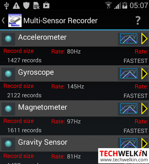 Sensor Kinetics tests sensors in your Android phone