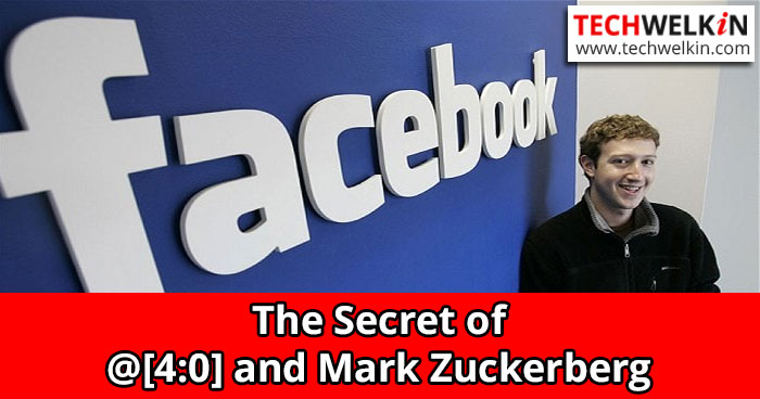Why does Mark Zuckerberg appears When You Type @[4:0] in FB?