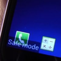 android safe mode label on screen