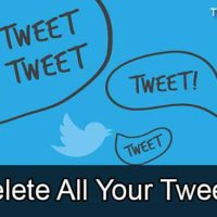 delete all tweets from Twitter account