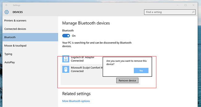 enable bluetooth windows 10