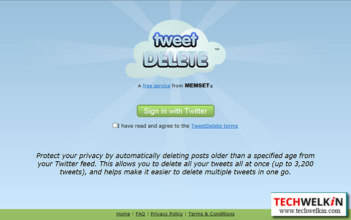 TweetDelete removes all the tweets from your Twitter account