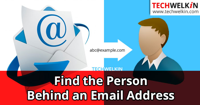 find the person behind an email address
