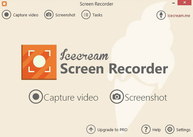 this image shows a screenshot of icecream screen recorder software
