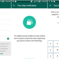 setting up two step verification in whatsapp