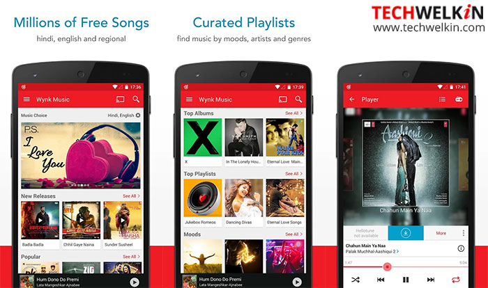 wynk music app can be used to download songs