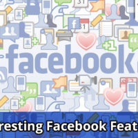 This image shows a banner display for interesting Facebook features.