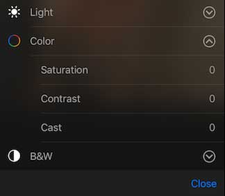This image shows color selection control of iPhone and iPad