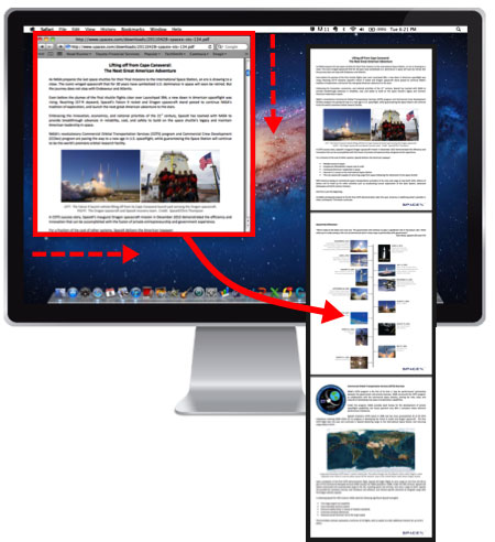 This image shows a screenshot of Snagit tool used for capturing the full webpage screenshots
