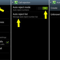 create auto call rejection list to block phone calls by country code