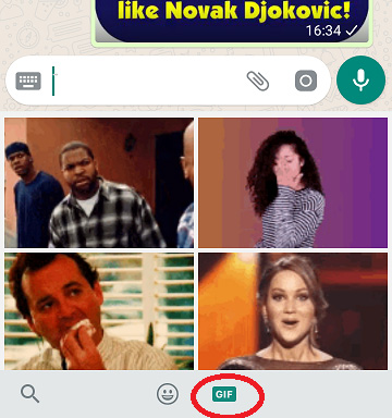 gif internet search icon in android