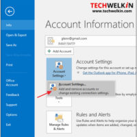 outlook account settings to find location of pst files