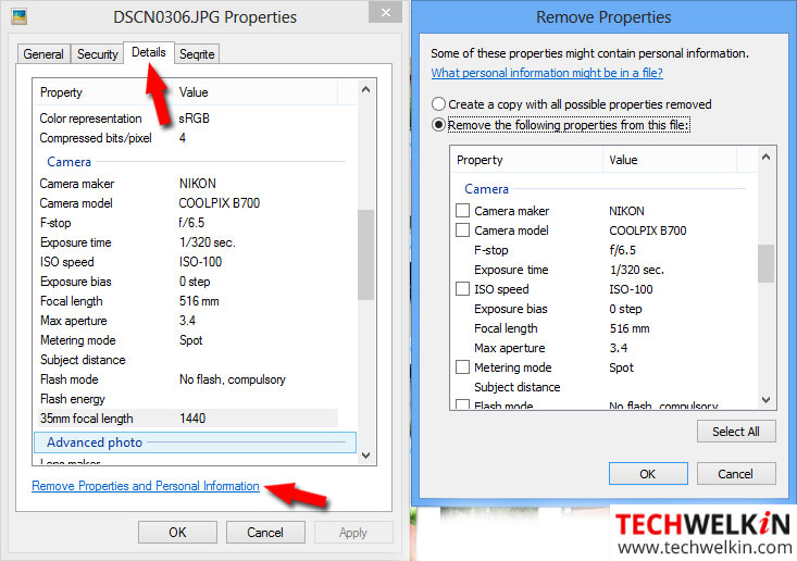 Remove EXIF data in a Windows computer
