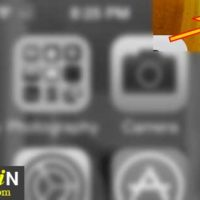 image showing bluetooth battery icon in the status bar of iphone