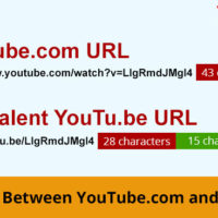 an example of difference between youtube.com and youtu.be URLs