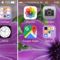 iOS LiveClock icon shows real time.