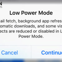 low power mode popup in iphone