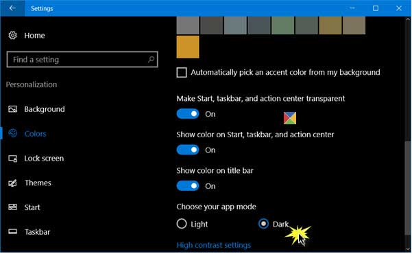 how to change contrast windows 10