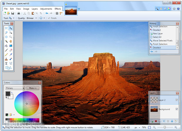 paint dot net is a full featured graphics editor