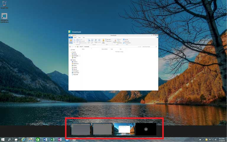 Windows 10 allows you to create virtual desktops