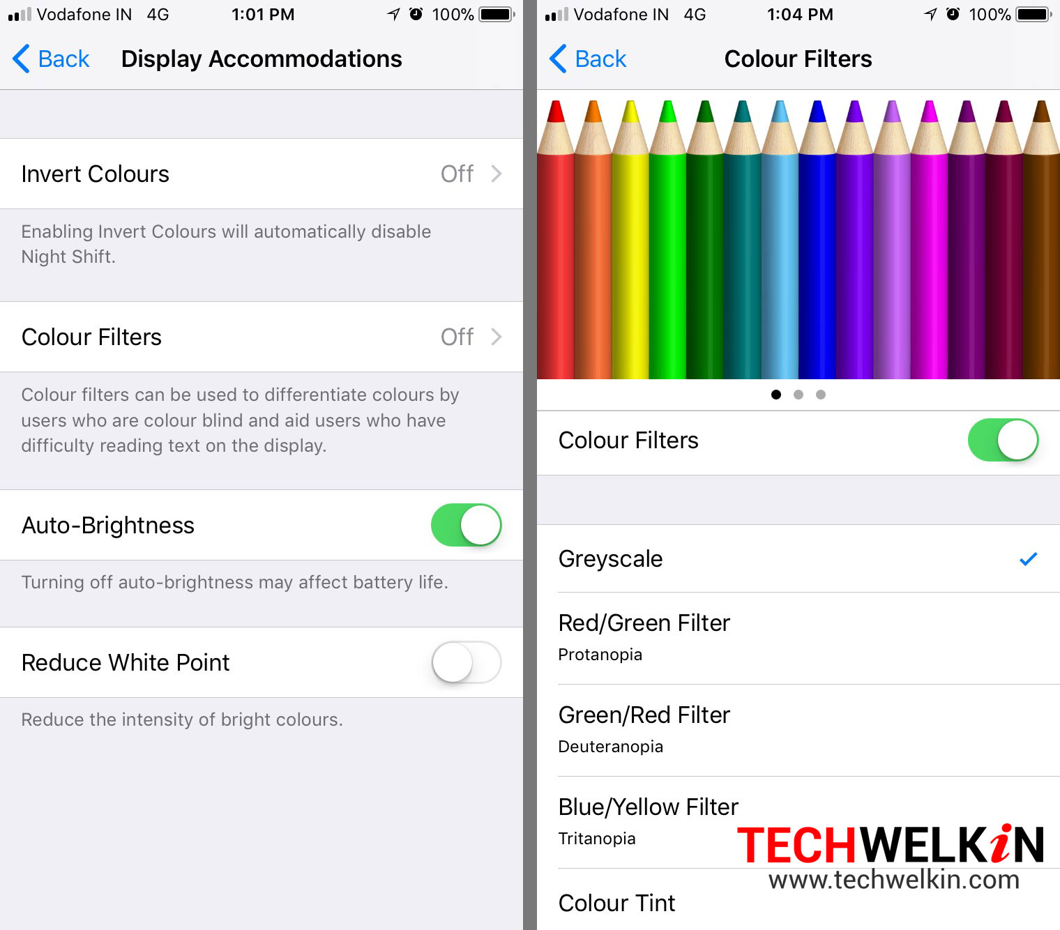 color filters in iOS