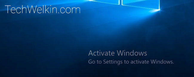 activate windows watermark in windows 10